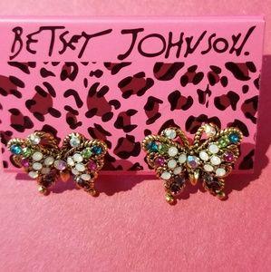 Betsey Johnson Earrings Butterfly